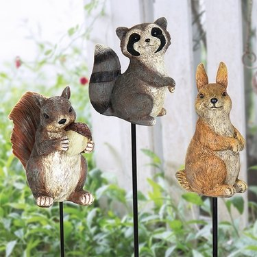 Forest Animal Plant Stakes (Set of 5) - Click to enlarge