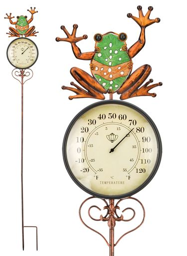 Frog Thermometer Stake - Click to enlarge