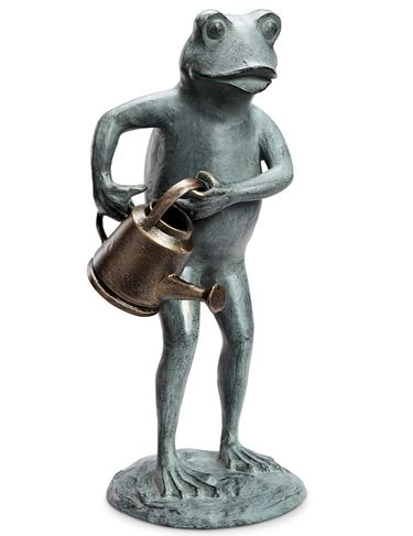 Frog w/Watering Can Garden Statue - Click to enlarge
