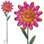 Funky Red Flower Garden Stakes (Set of 2)