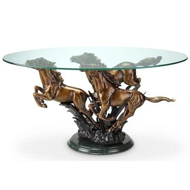 Galloping Horse Trio Coffee Table - Click to enlarge