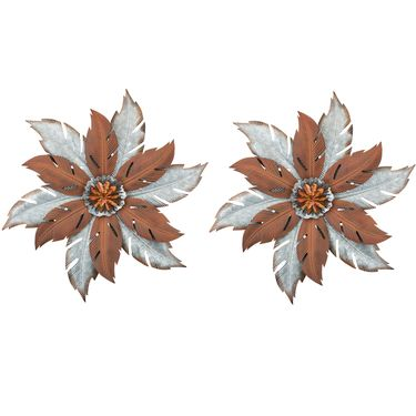 Galvananized Flower Wall Decor (Set of 2) - Click to enlarge