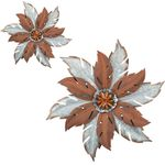 Galvananized Flower Wall Decor (Set of 2)