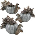 Galvanized Turkey Pumpkins (Set of 3)