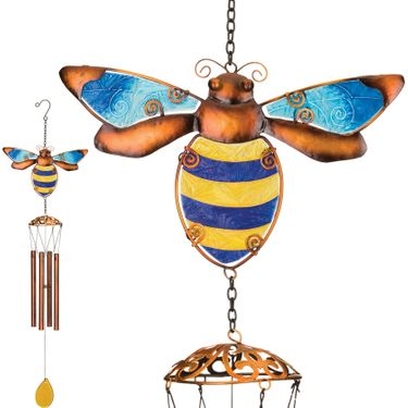 Garden Bee Wind Chimes (Set of 2) - Click to enlarge