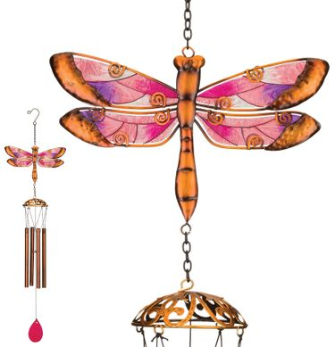 Garden Dragonfly Wind Chimes (Set of 2) - Click to enlarge