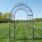Garden Gate Archway w/Fences - Brown/Blue