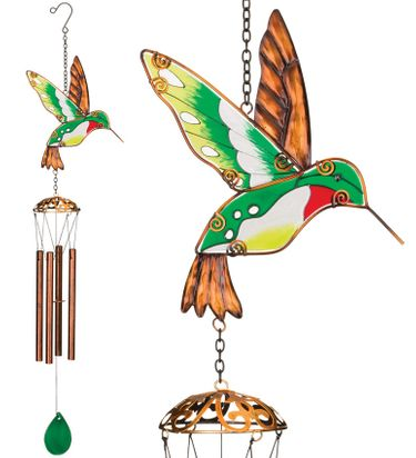 Garden Hummingbird Wind Chimes (Set of 2) - Click to enlarge