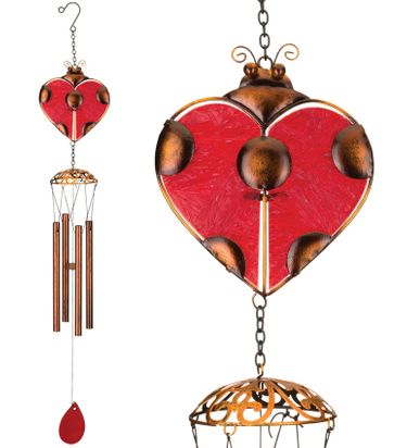 Garden Ladybug Wind Chimes (Set of 2) - Click to enlarge
