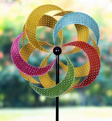 Giant Multi-Color Pinwheel Double Spinner - Click to enlarge