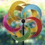 Giant Multi-Color Pinwheel Double Spinner