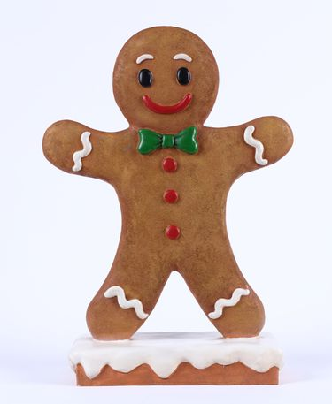 Gingerbread Boy Christmas Statue - Click to enlarge