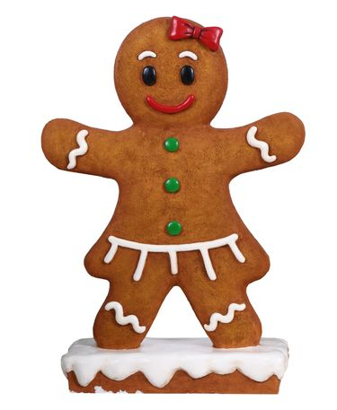 Gingerbread Girl Christmas Statue - Click to enlarge