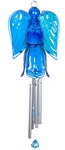 Glass Angel Wind Chime - Blue