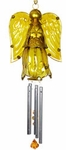 Glass Angel Wind Chime - Gold