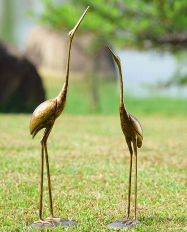 Golden Cranes Decor (Set of 2) - Click to enlarge