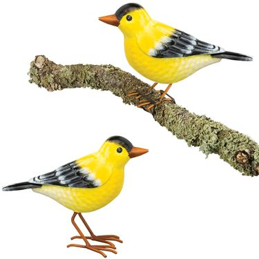 Goldfinch Tree Branch Decor (Set of 2) - Click to enlarge