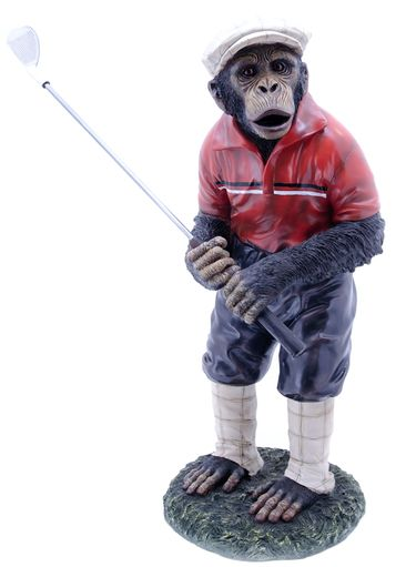 Golfer Monkey Statue - Click to enlarge