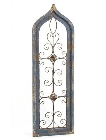 Gothic Wood & Iron Wall Window Decor - Click to enlarge