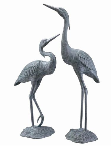 Graceful Garden Herons (Set of 2) - Click to enlarge