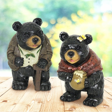 Grandma & Grandpa Bear Statues (Set of 2) - Click to enlarge