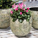 Green Flower Nesting Planters (Set of 4)