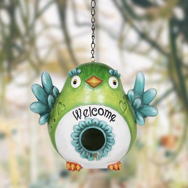 Green Love Welcome Bird House - Click to enlarge