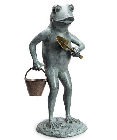 Green Thumb Garden Frog Statue - Click to enlarge