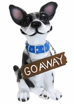 Grinning Dog w/Go Away Sign