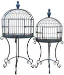 Wall Half Cage Plant Stands (Set of 2) - Antique Blue