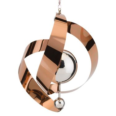 Hanging Copper Vogue Spinners (Set of 2) - Click to enlarge