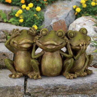 Hear, See, Speak No Evil Frogs Statue - Click to enlarge