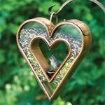 Heart Copper Fly-Thru Bird Feeder