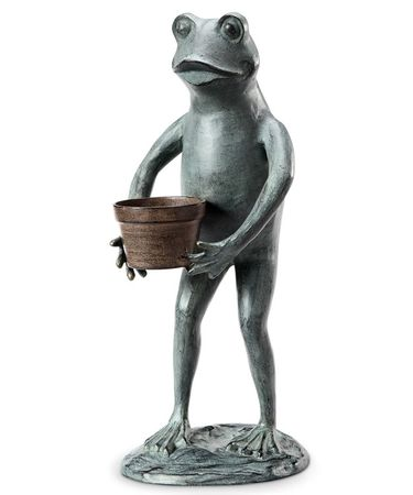 Helpful Garden Frog Planter Holder - Click to enlarge