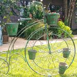 High Wheel Bicycle Planter - Verdi Green