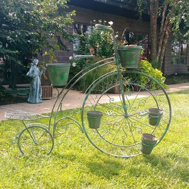 High Wheel Bicycle Planter - Verdi Green - Click to enlarge
