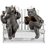 Hipster Bears on Bench Garden