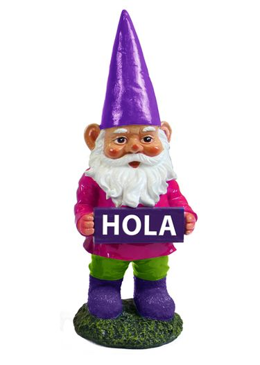 HOLA Gnome Garden Statue - Click to enlarge