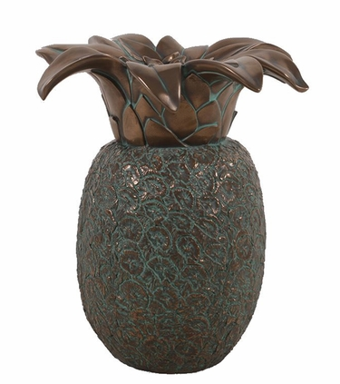 Hospitality Pineapple Sculpture - Verde Bronze - Click to enlarge