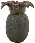 Hospitality Pineapple Sculpture - Verde Bronze
