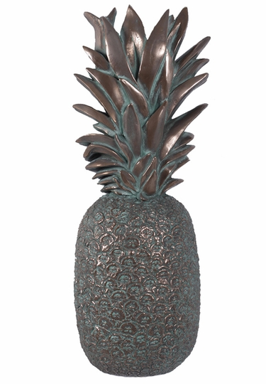 Hospitality Pineapple Wall Decor - Verde Bronze - Click to enlarge