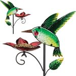 Hummingbird Bird Feeder Stakes (Set of 2)