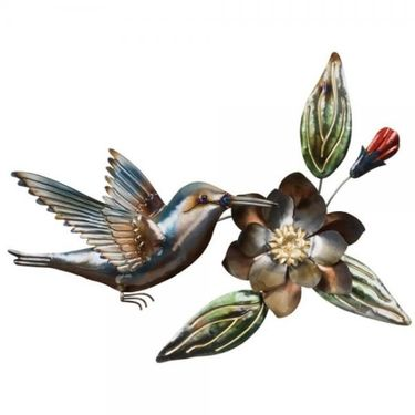 Hummingbird & Flower Wall Art - Click to enlarge