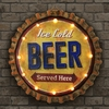 """Ice Cold Beer"" Cap Marquee - Dual Powered"