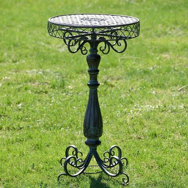 Iron Lattice Plant Stand Table - Metallic - Click to enlarge