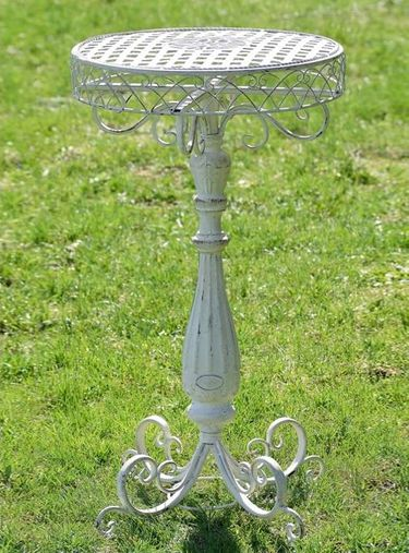 Iron Lattice Plant Stand Table - White - Click to enlarge