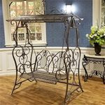 Iron Swing Bench - Blue/Bronze