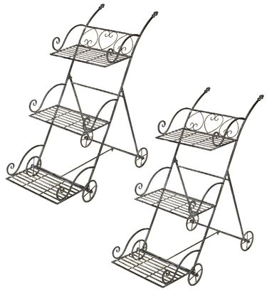 Italian Flower Cart (Set of 2) - Click to enlarge