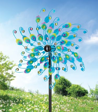 Jeweled Peacock Wind Spinner - Click to enlarge