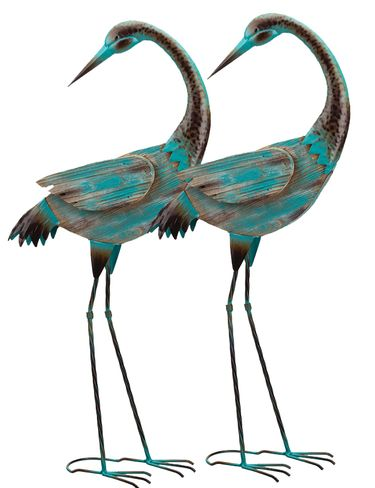 Key West Preening Cranes (Set of 2) - Click to enlarge